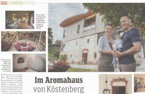 Im Aromahaus von Köstenberg, Kleine Zeitung AROMAREICH Kärnten, Juni 2019
