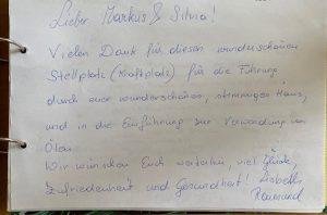 AROMAREICH Gästebuch Lisbeth & Raimund