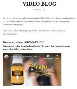 AROMAREICH Video Blog