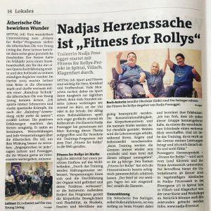 Fitness for Rollys Kärntner Woche Bezirk Spittal