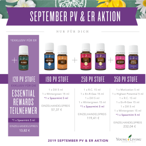 Young Living Aktion Promotion September 2019 Micorgraphic