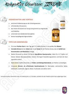 AROMAREICH Ätherische Öle von Young Living Kompaktes Ölewissen Zitrone