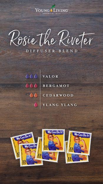 Young Living Blog: 100 Jahre Diffusermischungen 1940er Rosie the Riveter AROMAREICH